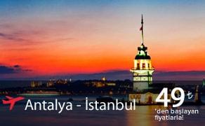 antalya istanbul uçak bileti