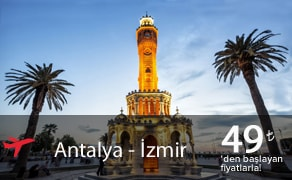 Antalya Izmir Uçak Bileti | En Uygun Uçak Bilet Fiyatları