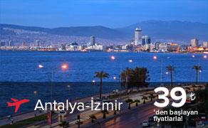 Antalya İzmir Uçak Bileti