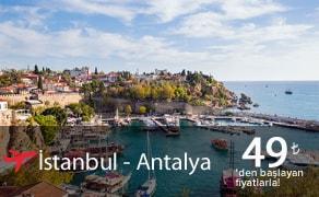 istanbul antalya uçak bileti
