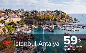 İstanul Antalya Uçak Bileti