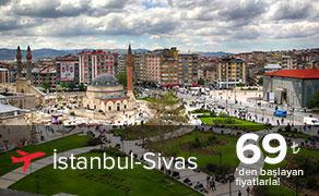 İstanbul Sivas Uçak Bileti Fiyatları