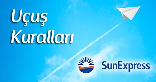 sunexpress uçuş kuralları