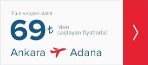 ankara adana uçak bileti
