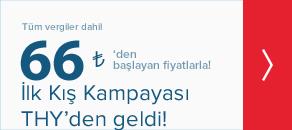 Yılın ilk kış kampanyası Türk Hava Yolları ile geldi, 66TL!