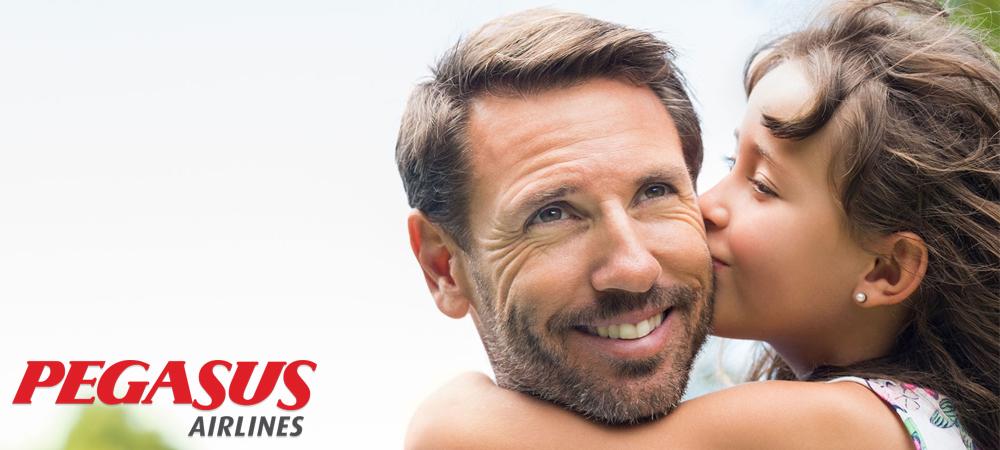 Pegasus Babalar Günü Kampanyası , 2. kişi %50 indirimli!