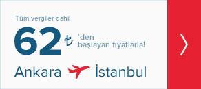 ankara istanbul uçak bileti