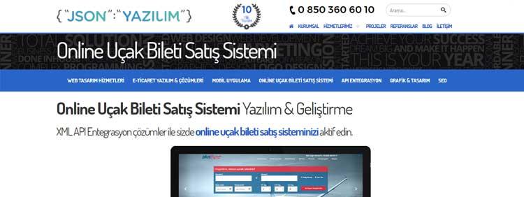 Online uçak bileti satış sistemi, Uçak bileti yazılımı