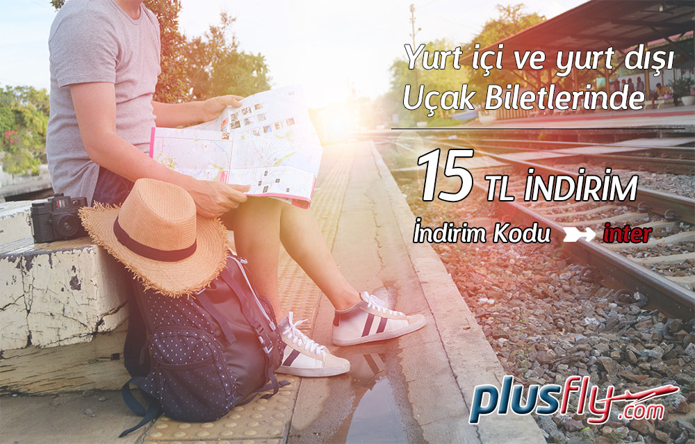 Uçak Biletlerinde 15 TL indirim kodu plusFLY.com'da