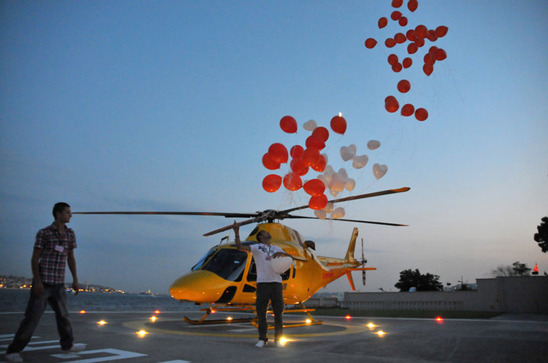 helikopter evlilik teklifi